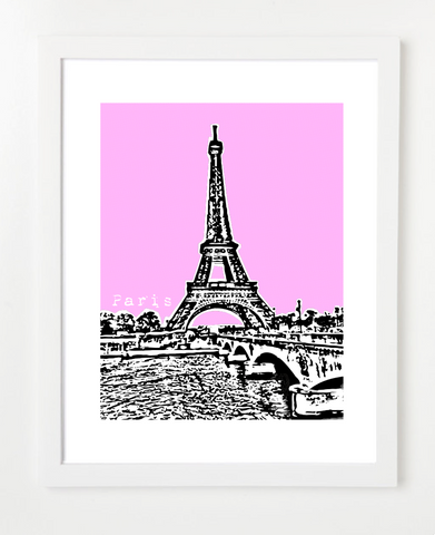 Paris France Eiffel Tower Europe Posters and Skyline Art Prints | By BirdAve