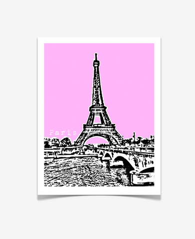 Paris France Eiffel Tower Europe Poster