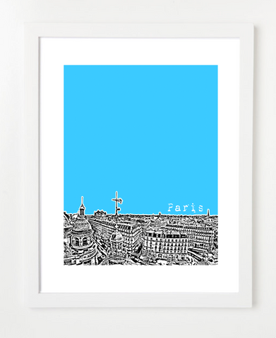 Paris France Europe Street View Posters and Skyline Art Prints | By BirdAve