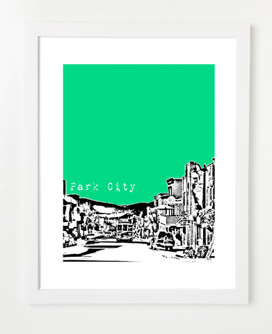 Park City Utah Skyline Art Print and Poster | By BirdAve Posters