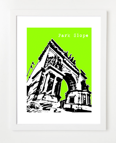 Park Slope Brooklyn New York posters and Skyline Art Prints | By BirdAve