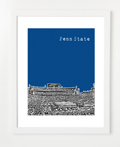 Penn State University Beaver Stadium Skyline Art Print and Poster | By BirdAve Posters
