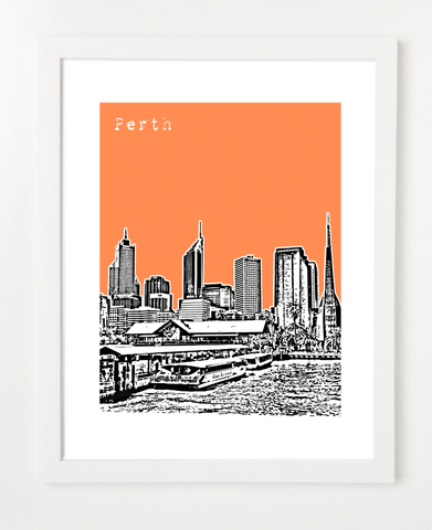 Perth Australia Posters and Skyline Art Prints | By BirdAve