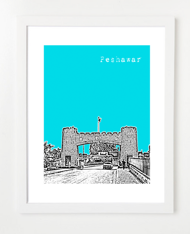 Peshawar Pakistan Asia Posters and Skyline Art Prints | By BirdAve