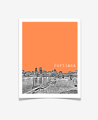 Portland Oregon Downtown Poster