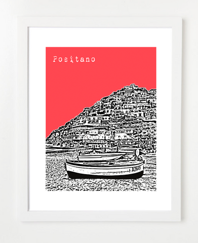 Positano Italy Europe Posters and Skyline Art Prints | By BirdAve