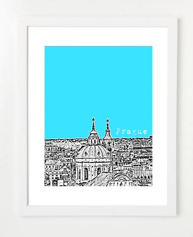 Prague Czech Republic Europe VERSION 1 Poster by BirdAve. Hundreds of modern city prints available. Great for gift giving!  Fast delivery and personalized service.