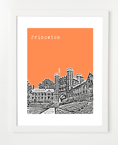 Princeton New Jersey Princeton University Skyline Art Print and Poster | By BirdAve Posters