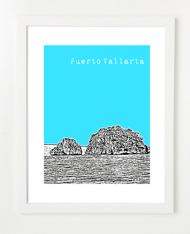 Puerto Vallarta Mexico Posters and Skyline Art Prints | By BirdAve