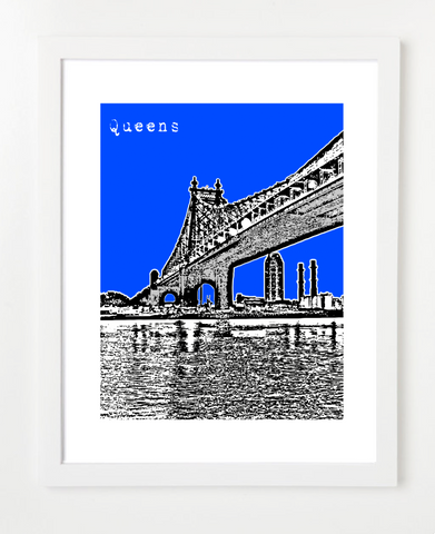 Queens New York Queensboro Bridge Skyline Art Print and Poster | By BirdAve Posters