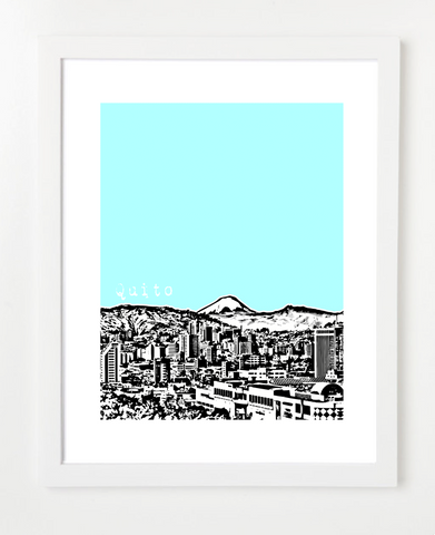 Quito Skyline Latin America VERSION 1 Posters and Skyline Art Prints | By BirdAve