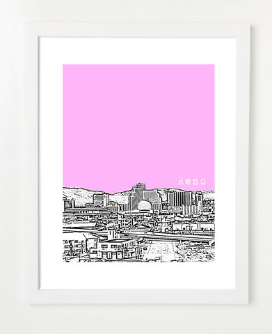 Reno Nevada Skyline Art Print and Poster | By BirdAve Posters