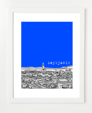Reykjavik Iceland Europe Posters and Skyline Art Prints | By BirdAve