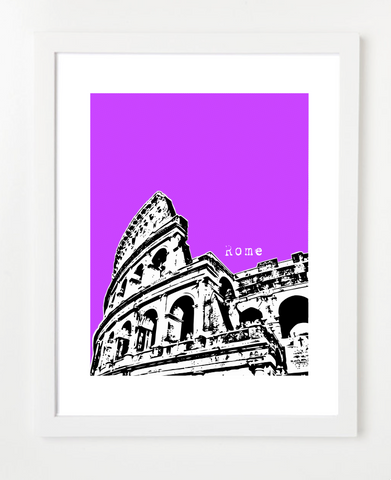 Rome Colosseum Europe Posters and Skyline Art Prints | By BirdAve