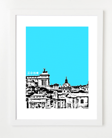 Rome Italy Europe Posters and Skyline Art Prints | By BirdAve