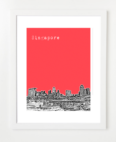Singapore Asia Posters and Skyline Art Prints | By BirdAve