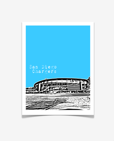 San Diego Chargers Qualcomm Stadium Poster