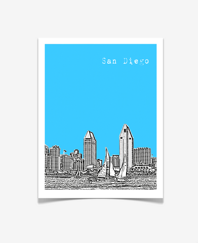 San Diego California Poster Version 1