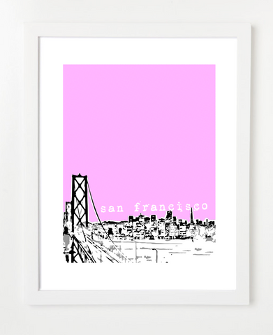 San Francisco California Skyline Art Print and Poster | By BirdAve Posters