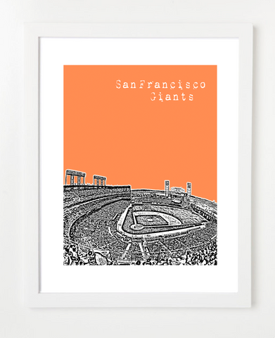 San Francisco Giants Californias and Skyline Art Prints | By BirdAve