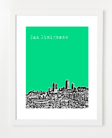 San Gimignano Italy Europe Posters and Skyline Art Prints | By BirdAve