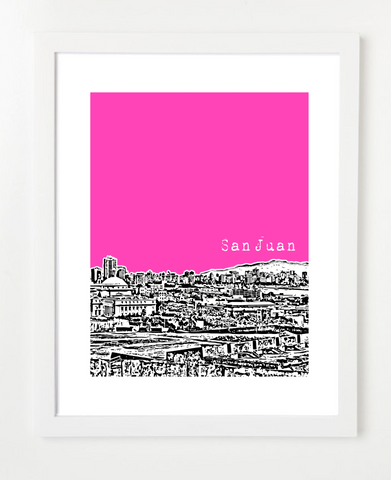 San Juan Puerto Rico Latin America Posters and Skyline Art Prints | By BirdAve