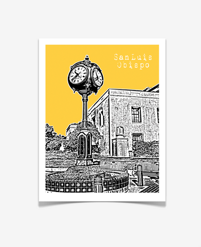 San Luis Obispo California Poster - VERSION 1