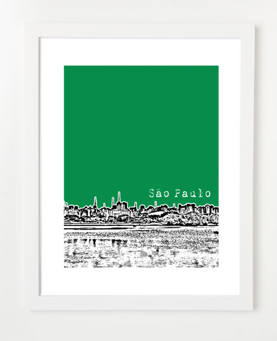 Sao Paulo Brazil Latin America Posters and Skyline Art Prints | By BirdAve