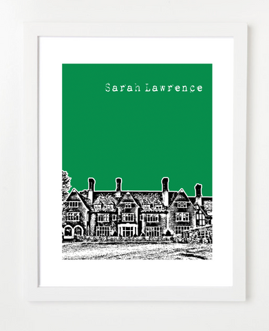 Sarah Lawrence College New York Skyline Art Print and Poster | By BirdAve Posters