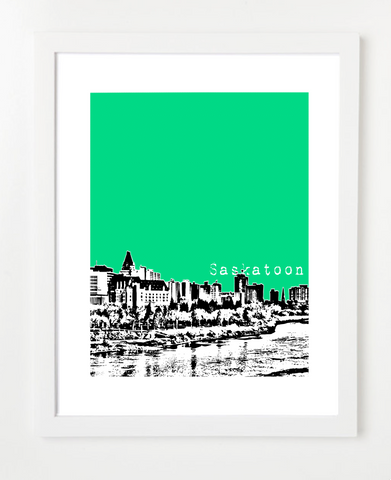 Saskatoon Saskatchewan Canada Posters and Skyline Art Prints | By BirdAve Posters
