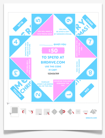 $50 Gift Certificate Fortune Teller (Print at Home) Any Occasion