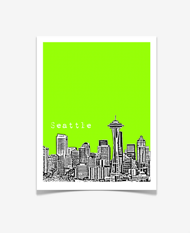 Seattle Washington Poster VERSION 1