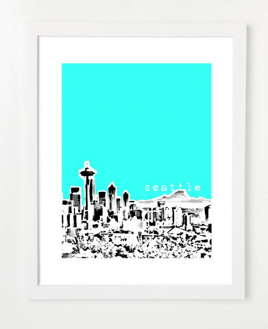 Seattle Washington Poster VERSION 2
