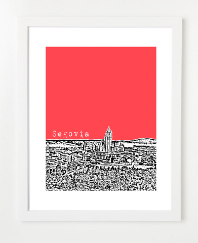 Segovia Spain Europe Posters and Skyline Art Prints | By BirdAve