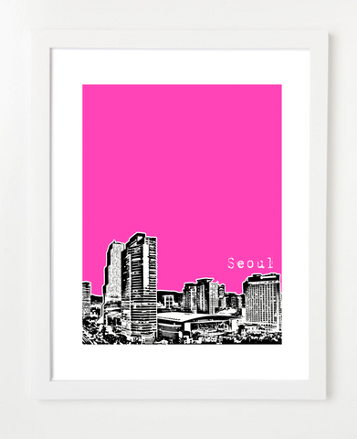 Seoul South Korea Asia Posters and Skyline Art Prints | By BirdAve