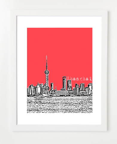 Shanghai China Asia Posters and Skyline Art Prints | By BirdAve