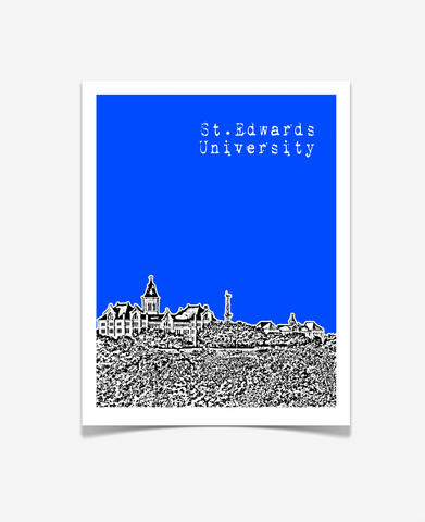 St. Edward's University Texas Poster