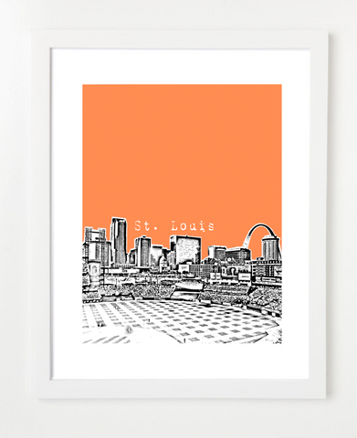 St Louis Missouri VERSION 2 Skyline Art Print and Poster | By BirdAve Posters