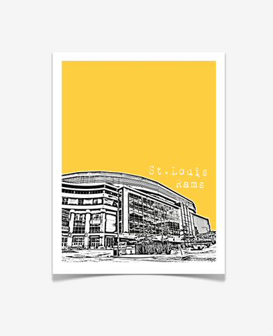 St Louis Rams Edward Jones Dome Missouri Poster