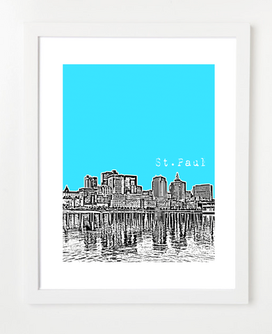 St. Paul Minnesota Skyline Art Print and Poster | By BirdAve Posters
