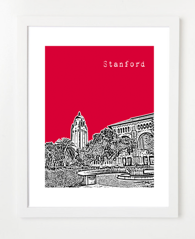 Stanford University Skyline Art Print and Poster | By BirdAve Posters