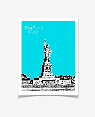 Statue of Liberty New York City VERSION 2 Poster