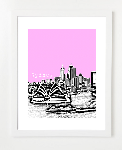Sydney Australia VERSION 2 Posters and Skyline Art Prints | By BirdAve