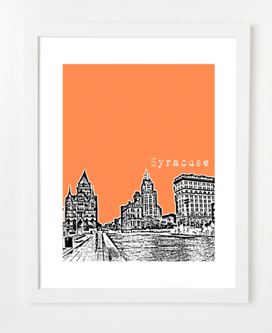 Syracuse New York USA Skyline Art Print and Poster | By BirdAve Posters