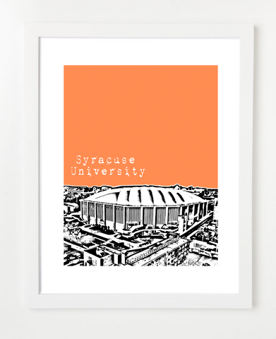 Syracuse University New York Skyline Art Print and Poster | By BirdAve Posters