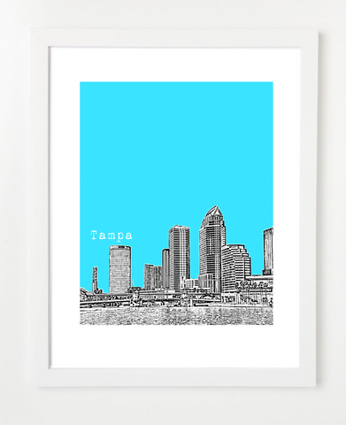 Tampa Bay Florida Skyline Art Print and Poster | By BirdAve Posters