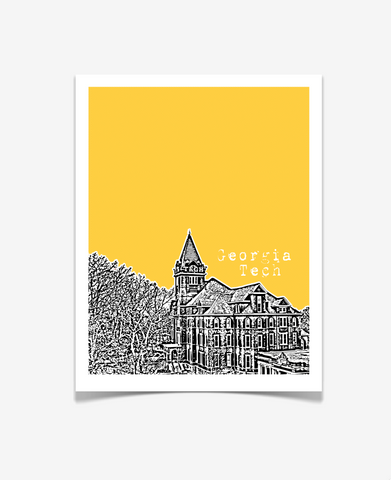 Atlanta Georgia - Georgia Tech Poster