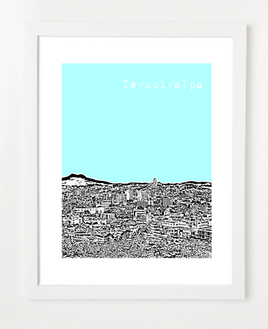 Tegucigalpa Honduras Latin America Posters and Skyline Art Prints | By BirdAve