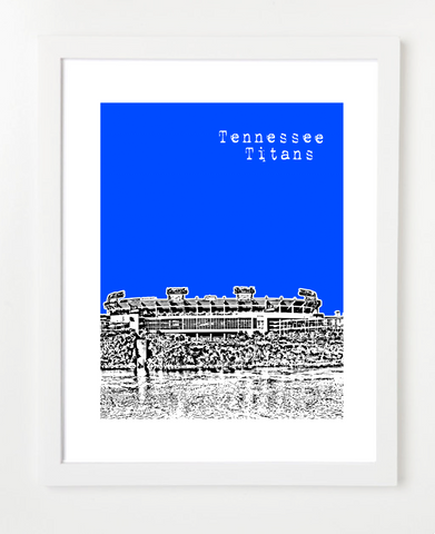 Tennessee Titans LP Field Nashville Skyline Art Print and Poster | By BirdAve Posters