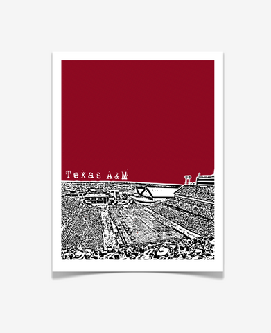 Texas A&M Kyle Field Poster